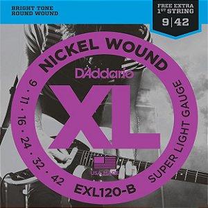 ENCORDOAMENTO P/GUITARRA (009) EXL120-B D ADDARIO