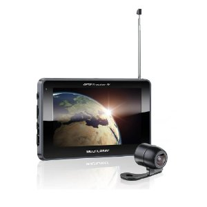 "GPS 7"" TRACKER III C/ TV-CAMERA DE RE GP039 MULTILASER"