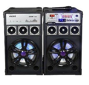 CAIXA DE SOM VICINI VC7300 USB/SD/FM/BLUETOOTH 300W BIVOLT