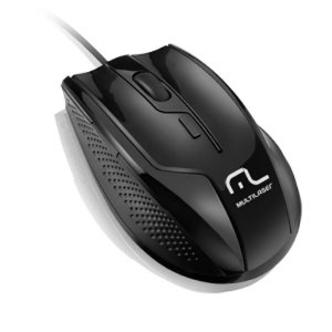 MOUSE USB PROFISSIONAL 6 BOTOES 1600DPI BLACK PIANO MO164 MULTILASER