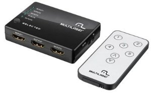 SWITCH HDMI 5 PORTAS RE048 MULTILASER