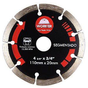 DISCO DIAMANTADO SEGMENTADO 110X20MM - WORKER