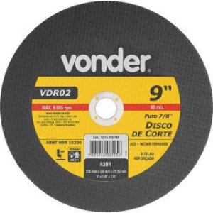 DISCO CORTE 9X1/8X7/8-229X3.0X22.2