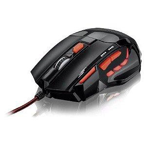 MOUSE OPTICO XGAMER FIRE BUTTON USB 2400DPI PRE/VERM MO236 MULTILASER