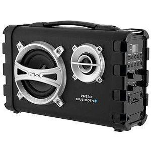 CAIXA ACUSTICA PHT80 PHILCO 80W COM MICROFONE MP3/ USB/SD/FM/GUITARRA BIVOLT