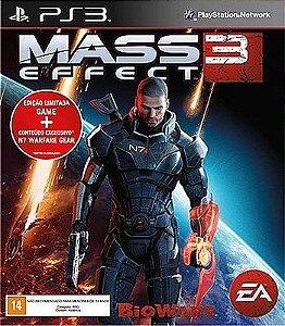 JOGO MASS EFFECT 3 EDICAO LIMITADA PS3