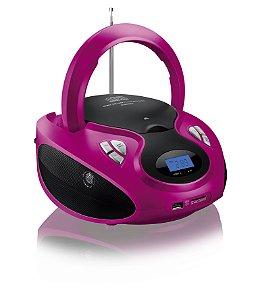 RADIO BOOMBOX 20W/RMS CD/USB/SD/FM/AUX ROSA/ BRANCA BIVOLT SP179 MULTILASER