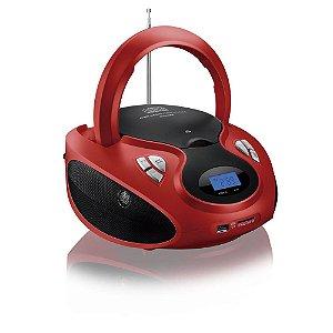 RADIO BOOMBOX 20W/RMS CD/USB/SD/FM/AUX VERM/PRETA BIVOLT SP180 MULTILASER