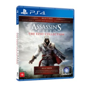 JOGO ASSASSINS CREED THE EZIO COLLECTION PTBR  PS4