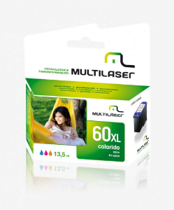 Cartucho Jato Compativel P/ HP Mod 60 Color Multilaser - CO6