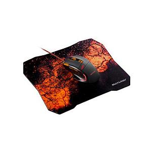 Combo Mouse Gamer e Mouse Pad Laranja Multilaser - MO256