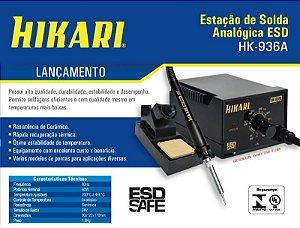 Estação de Solda Analógica ESD Hikari HK-936A 220/127V