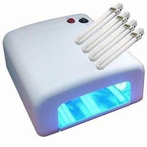 Estufa Secagem Uv, Cola Uv, 4 Lamp 110v, Lcd Celular Ipad led