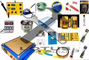Kit Bancada Profissional Manutenção Celular 34 Itens