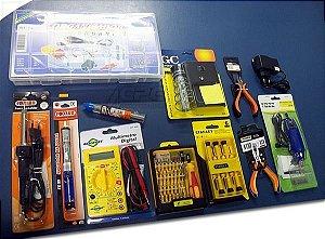 Kit Solda E Eletrônica Com Chaves Torx Para Celular 12 Itens
