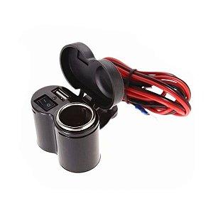 Tomada 5v 1.5a Usb P/ Moto Carregador Celular Gps Acendedor