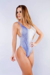 Body Cavado Estampa Jeans