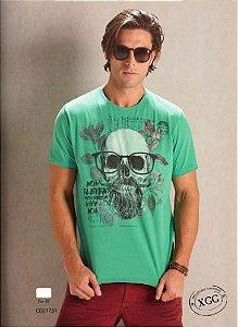 Camiseta Manga Curta Skull com Óculos