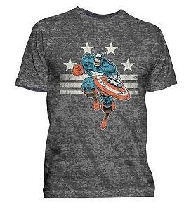 Camisa Masculina Marvel Capitão América