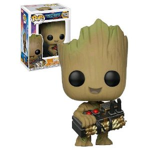 Funko Pop Vinyl Guardians of the Galaxy - Groot (Holding Bomb) Exclusivo