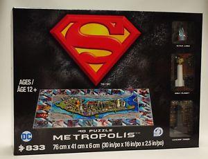 Metropolis 4D Cityscape Puzzle Superman