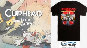 "T-Shirt Masculina Cuphead ""Do not Deal With The Devil"""
