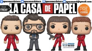 Kit de Funkos Pop Vinyl La Casa de Papel