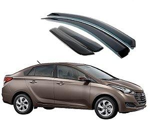 Jogo Calhas De Chuva Com 04 Peças Hyundai Hb20S 2012 A 2019