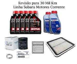 Kit Revisão 30 Mil Km Linha Subaru Forester S 2.0 2012 em Diante Motores Corrente