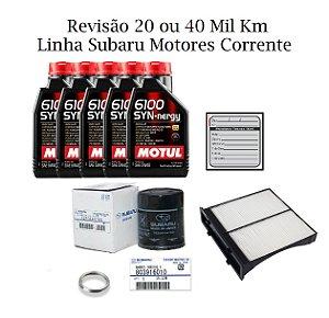 Kit Revisão 20 Ou 40 Mil Km Subaru Forester S 2.0 Motor Corrente