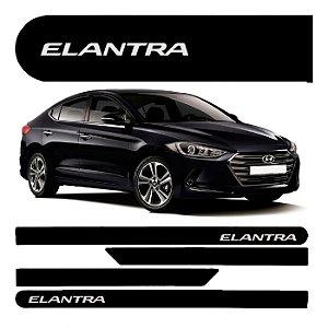 Friso Lateral Porta Hyundai Elantra 1.8 2.0 Preto 04 Peças