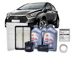 Kit De Filtros Hyundai Hb20 1.0 Flex Com Óleo Shell Sintético 5W30