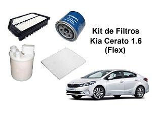 Kit De Filtros Kia Cerato 1.6 Flex