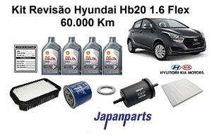 KIT REVISÃO HYUNDAI HB20 1.6 FLEX 60 MIL KM