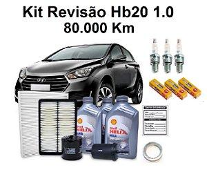 Kit Revisão Hyundai Hb20 1.0 Flex 80 Mil Km