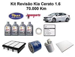 KIT REVISÃO KIA CERATO 1.6 - 70 MIL KM