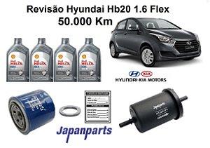 KIT REVISÃO HYUNDAI HB20 1.6 FLEX 50 MIL Km