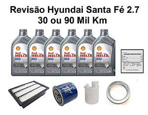 Kit Revisão Hyundai Santa Fé 2.7 30 ou 90 Mil Km