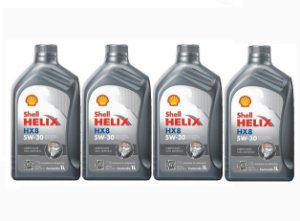 Kit Com 04 Litros De Óleo Shell Helix HX-8 5W30 Sintético