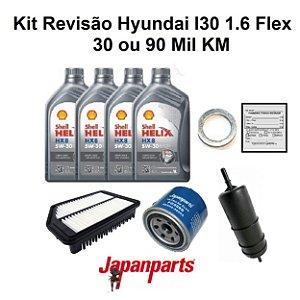 Kit Revisão Hyundai I30 1.6 Flex 30 ou 90 Mil Km
