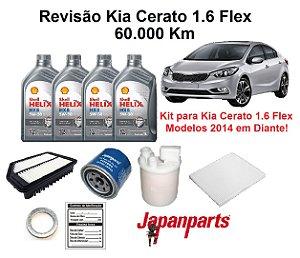 Kit Revisão Kia Cerato 1.6 Flex 2014 Em Diante 60 Mil Km