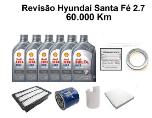 Kit Revisão Hyundai Santa Fé 2.7 60 Mil Km