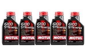 Kit Com 05 Litros De Óleo Motul 6100 Syn-nergy 5W30 5W30 Sintético