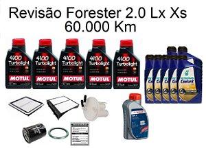 Kit Revisão Subaru Forester 2.0 Lx Xs 60 Mil Km Com Óleo Motul 10W40 Turbolight