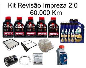 Kit Revisão Subaru Impreza 2.0 160 CV 60 Mil Km Com Óleo Motul 10W40 Turbolight