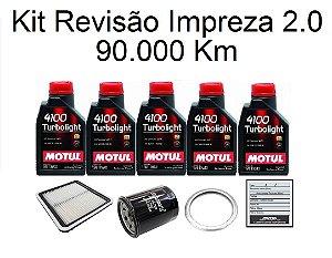 Kit Revisão Subaru Impreza 2.0 160 CV 90 Mil Km Com Óleo Motul 10W40 Turbolight Semi-Sintético