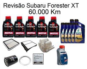 Kit Revisão Subaru Forester 2.0 2.5 XT 60 Mil Km Com Óleo Motul 4100 Turbolight 10W40 Semi-Sintético