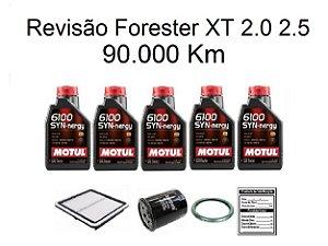 Kit Revisão Subaru Forester 2.0 2.5 XT 90 Mil Km Com Óleo Motul 6100