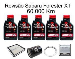 Kit Revisão Subaru Forester 2.0 2.5 XT 90 Mil Km Com Óleo Motul 4100 Turbolight 10W40 Semi-Sintético