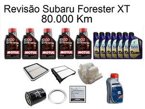 Kit Revisão Subaru Forester 2.0 2.5 XT 80 Mil Km Com Óleo Motul 6100 Syn-nergy 5W30 Sintético